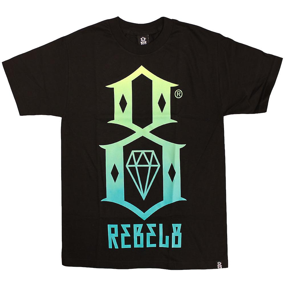 Rebel8 Gradient Logo T-shirt Black Green