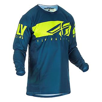 Fly Racing Navy-Hi-Vis 2019 Kinetic Shield Kinder MX Jersey