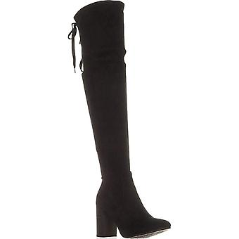 ESPRIT Womens Viola Fabric Almond Toe Over Knee Fashion Boots
