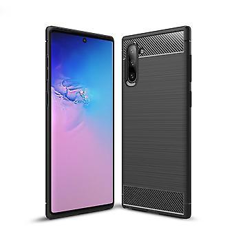 Samsung Galaxy Note 10 Kohlefaser Textur Schale-Schwarz