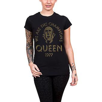 Queen T Shirt We Are The Champions new Official Womens Skinny Fit Black