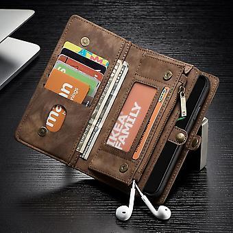 CaseMe case dla Apple iPhone X / XS 5.8 portfel + ochronny case + sprawa Brown