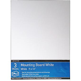 Crescent White Mounting Board Value Pack 3/Pkg-9