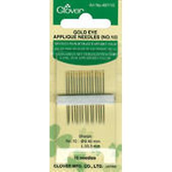 Gold Eye Applique Needles Size 10 15 Pkg 497 10
