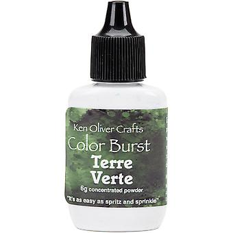 Ken Oliver Color Burst Powder 6gm-Terre Verte KNCPW-6332