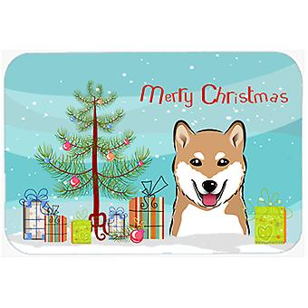 Christmas Tree and Shiba Inu Kitchen or Bath Mat 20x30 BB1597CMT