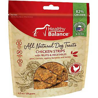 Healthy Balance Dog Treats 4.5oz-Chicken Strips Fruit & Veggies HB45OZ-51020