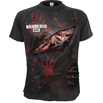 Spiral Direct Gothic RICK - ALL INFECTED - Walking Dead Ripped T-Shirt Black|The Walking Dead|Rips|Blood|Zombie