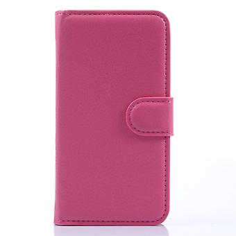 Type PU leather wallet cover for Kiritkumar Sunset (Pink)