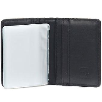 Mywalit Leather Credit Card Holder with Plastic Inserts