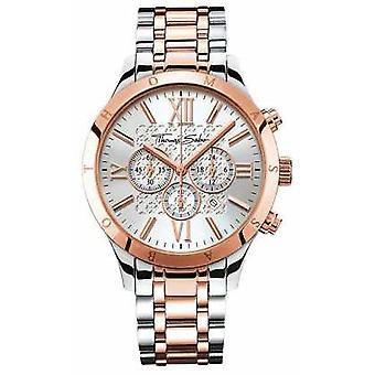 Thomas Sabo Mens Rebel Urban Chrono Rose Gold/Stainless Steel WA0225-272-201-43 Watch