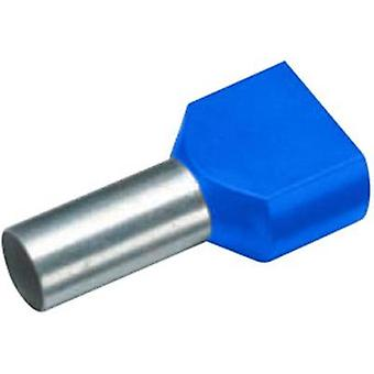 Twin ferrule 2 x 0.75 mm² x 8 mm Partially insulated Blue Cimco 18 2402 100 pc(s)