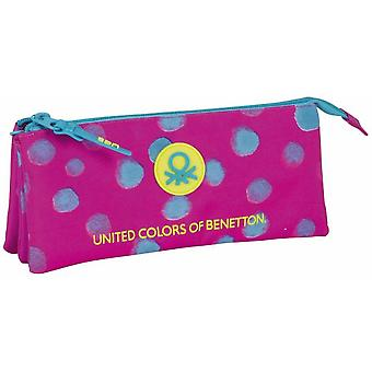 Benetton Portatodo Triple Benetton Dots Painted (Toys , School Zone , Pencil Case)