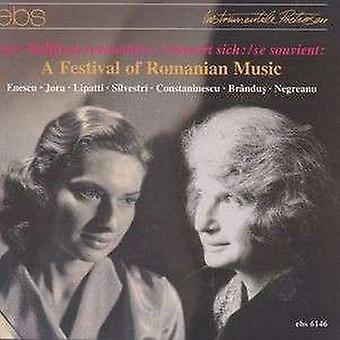 Enescu / Jora / Lipatti / Silvestri / Wallfisch - Festival af rumænsk musik [CD] USA import