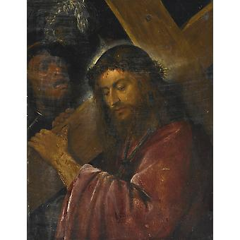 Titian - Christ Carrying the Cross Poster Print Giclee