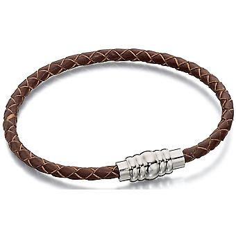 Stainless Steel Fashionable Leather Bracelet