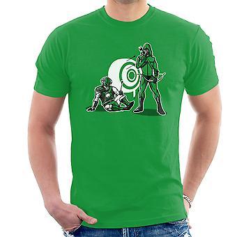 事故の緑色の矢印 Skyrim Dragonborn メンズ t シャツ