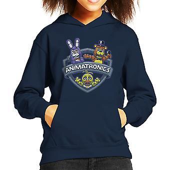 Animatronics galninge én nat på Freddys Kids hætte Sweatshirt