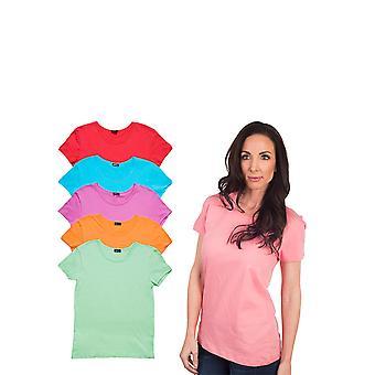 Agiato kvinders grundlæggende besætning hals T-Shirt 6-Pack