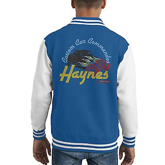 Haynes Custom Car Commandos Drag Hotrod Kid's Varsity Jacket