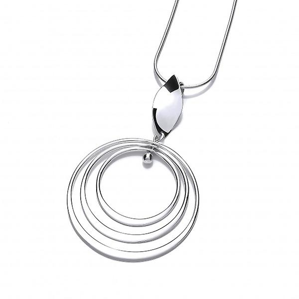 Cavendish French Twirling Silver Hoops Pendant without Chain