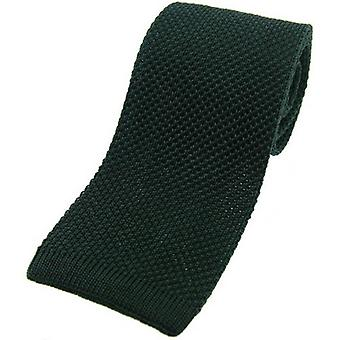 David Van Hagen Knitted Silk Tie - Racing Green