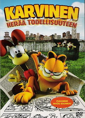 Garfield wakes up in the real world (DVD)