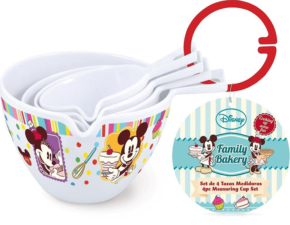 Set di 4 Tazzine Misuratore Mickey Mouse Disney Cake Design