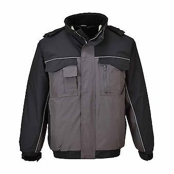 Portwest - パック離れてフード付き RS 制服作業服耐久性パッドを入れられた爆撃機のジャケット
