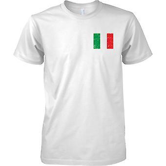 Italia Distressed Grunge effetto bandiera Design - petto Mens t-shirt Design