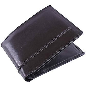 Dents Leather 6 Card Bill-Fold Wallet - Black