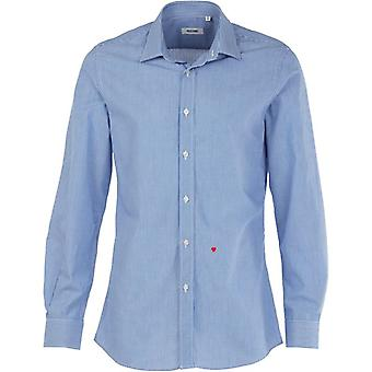 Moschino R701X1 65302 04 Casual Shirt Blue / White Pinstripe
