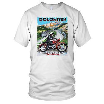 Italiano moto d'epoca Retro manifesto Ladies T Shirt