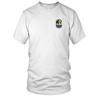 USAF luftforsvar - 130th hjelpe skvadron brodert Patch - Mens T-skjorte
