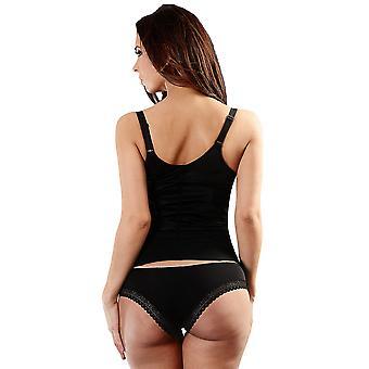 Esbelt ES439 Women's Black Firm/Medium Control Slimming Shaping Camisole Top