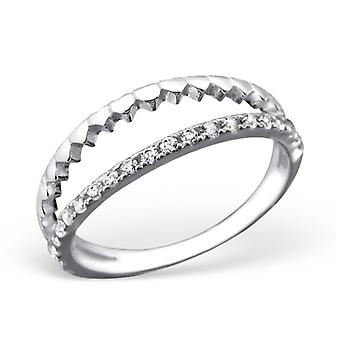 Open - 925 Sterling Silver Cubic Zirconia Rings