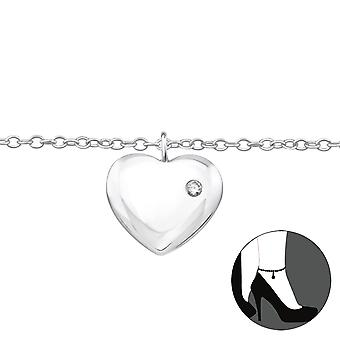 Heart - 925 Sterling Silver Anklets - W33460x