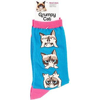 Grumpy Cat Crew Socks-Hear, Speak, See No Grumpy  GCWF-7H002
