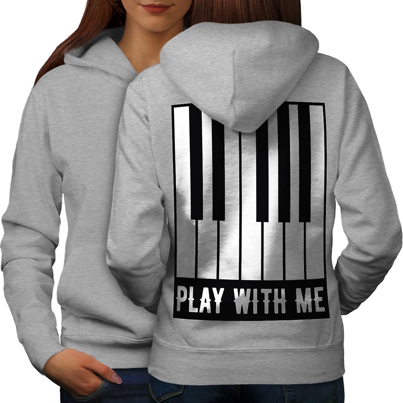 Jouer avec moi Piano femmes grisHoodie retour