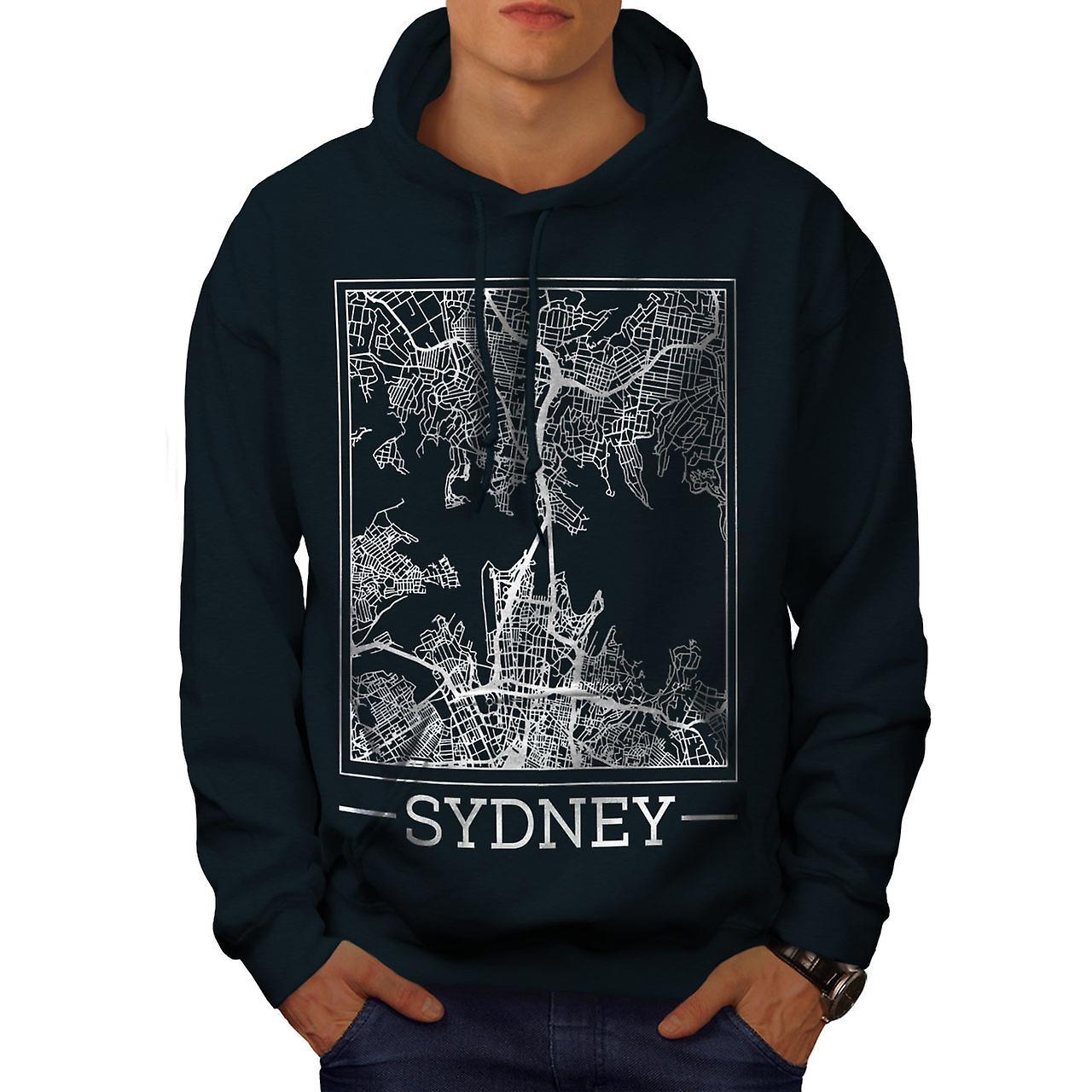 Australie Sydney Map hommes NavyHoodie