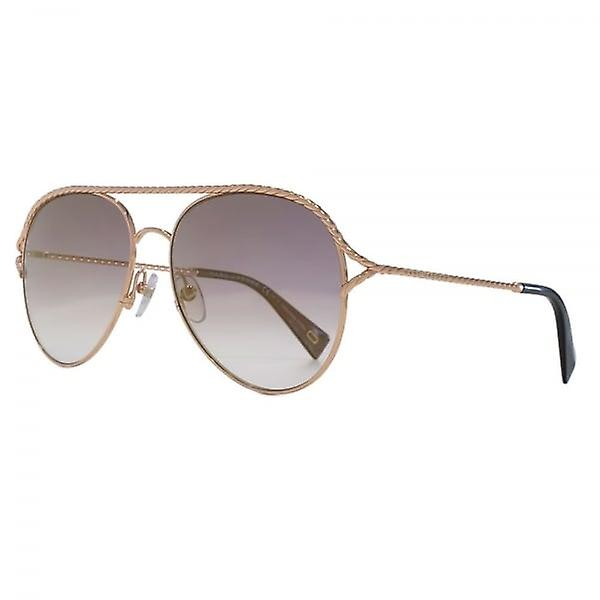 f833c7792033 Marc Jacobs Metal Twist Pilot Sunglasses In Antique Gold Green