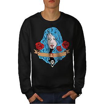 Rose Horror spaventoso uomo BlackSweatshirt di sangue | Wellcoda