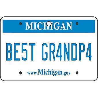 Michigan - Best Grandpa License Plate Car Air Freshener