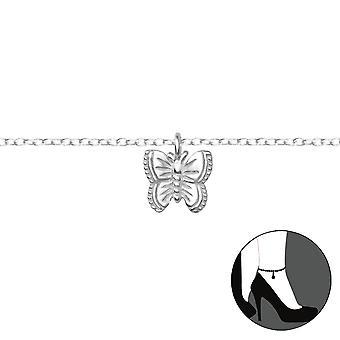 Schmetterling - 925 Sterling Silber Fußkettchen - W36047x