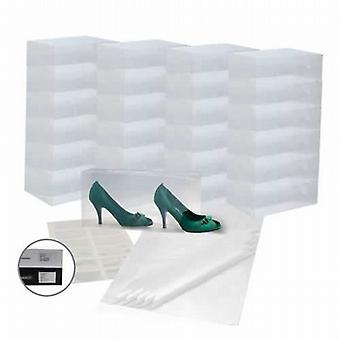 The Clear Shoe-Stacking Set (25 Boxes, 12 Pockets & 25 Tissue Sheets)