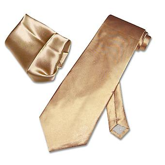 Solid NeckTie & Handkerchief Matching Set Men's Neck Tie