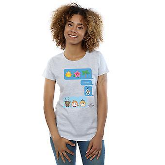 Disney Frauen ist ich liebe gefroren erhitzen Emoji-t-Shirt