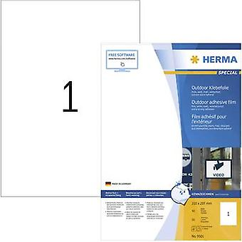Herma 9501 Labels (A4) 210 x 297 mm PE film White 50 pc(s) Permanent All-purpose labels, Weatherproof labels