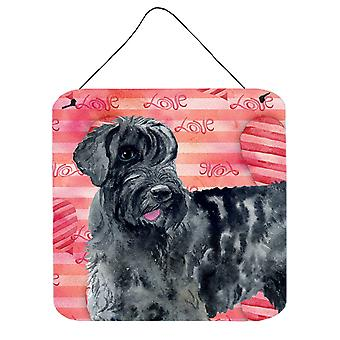 Carolines Treasures  BB9747DS66 Giant Schnauzer Love Wall or Door Hanging Prints