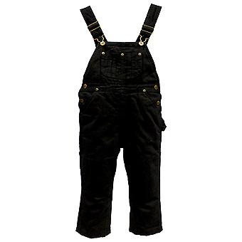 Infant Insulated Dungarees - Black Kids Protective Overalls Snow Rain Wear